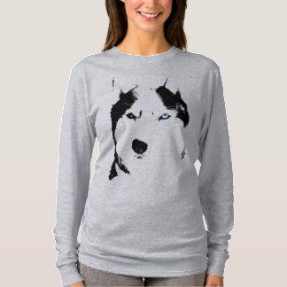 Camisetas fornido del perro de trineo del Malamute