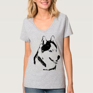 Camisetas fornido del perro de trineo del Malamute Camisas