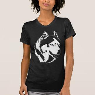 Camisetas fornido del perro de trineo del Malamute Playeras