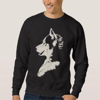 Camisetas fornido del perro del arte del lobo de sudaderas encapuchadas