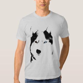 Camisetas fornido del perro esquimal del perro de playera