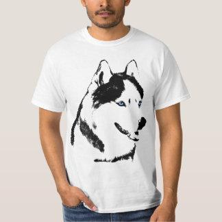 Camisetas fornido del perro esquimal del perro de remera
