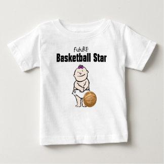 Camisetas futuras de la niña de la estrella del