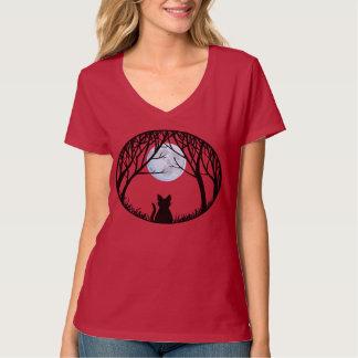 Camisetas gordo de las señoras del gato de la remeras