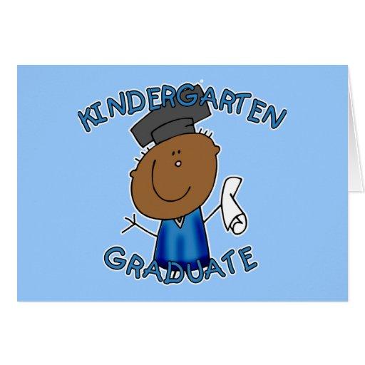 Camisetas graduadas de la guardería tarjeta de felicitación