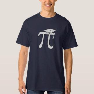 Camisetas graduadas de la matemáticas pi - regalo playeras