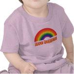 Camisetas gráficas del bebé gay - orgullo