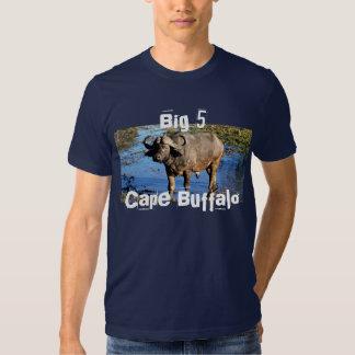 Camisetas grandes del safari del búfalo del cabo 5 poleras