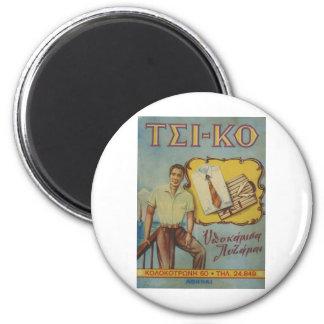 Camisetas griego Tsi-ko del anuncio viejo Imán Redondo 5 Cm