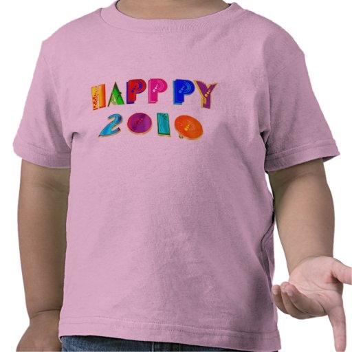 Camisetas happppy y regalos del Año Nuevo de