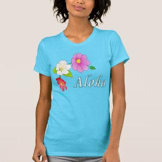 Camisetas hawaianas para las mujeres playeras