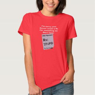 Camisetas hilarantes Rx del farmacéutico para Camisas