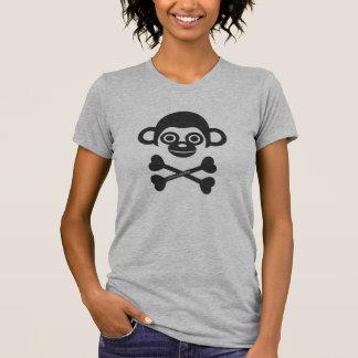 Camisetas inacabado del cráneo de los monos