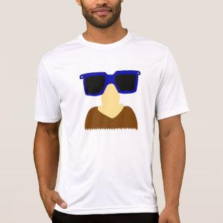 Camisetas incógnito del bigote y de los vidrios