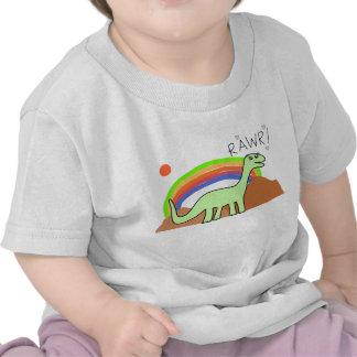 Camisetas infantil de Rawr del arco iris