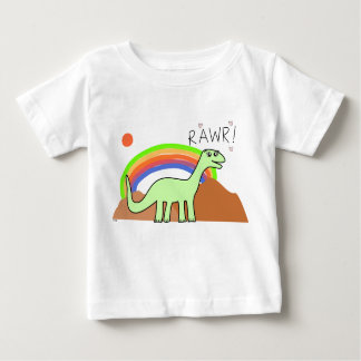 Camisetas infantil de Rawr del arco iris Polera