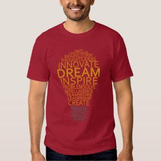Camisetas inspirado de la bombilla -. elija el remeras