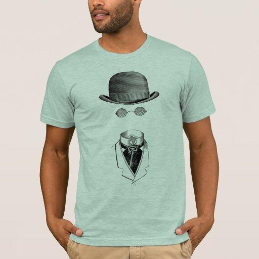 Camisetas invisible del vintage del hombre