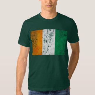 Camisetas irlandesas del trébol de la bandera remeras