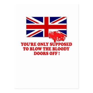 Camisetas italiano de Union Jack del trabajo Tarjeta Postal