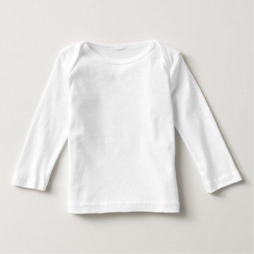 """Camisetas largas de encargo del bebé de la manga T Shirt"
