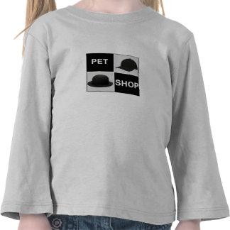 Camisetas largas de la manga del niño cuadrado
