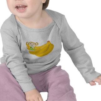Camisetas largo del niño de la manga del manojo
