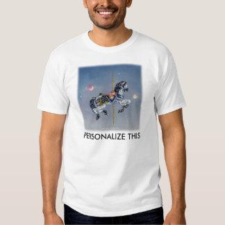 Camisetas ligeras para hombre - caballo gris del polera