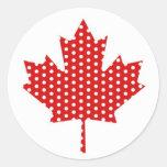 Camisetas lindas de la bandera de Canadá de la hoj Pegatinas