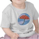 Camisetas lindas del bebé del paraguas