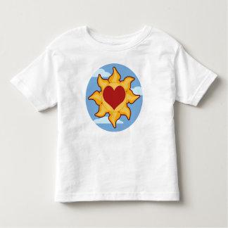 Camisetas lindas del niño de Sun y del corazón