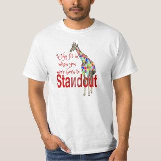 Camisetas lindas destacadas del giraffee