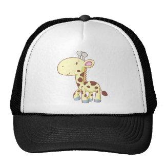 Camisetas lindo de la jirafa del bebé del dibujo a gorras