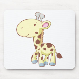 Camisetas lindo de la jirafa del bebé del dibujo a tapete de ratón