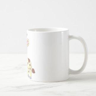 Camisetas lindo de la jirafa del bebé del dibujo a tazas de café