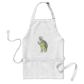 Camisetas lindo de la tortuga del dibujo animado delantal