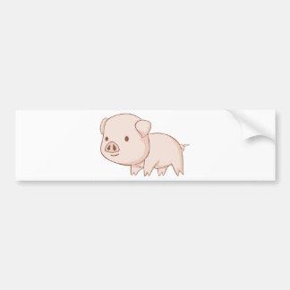 Camisetas lindo del cerdo del dibujo animado etiqueta de parachoque