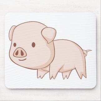 Camisetas lindo del cerdo del dibujo animado tapete de raton