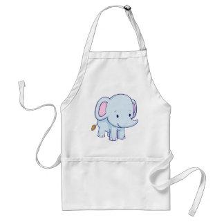 Camisetas lindo del elefante del dibujo animado delantales