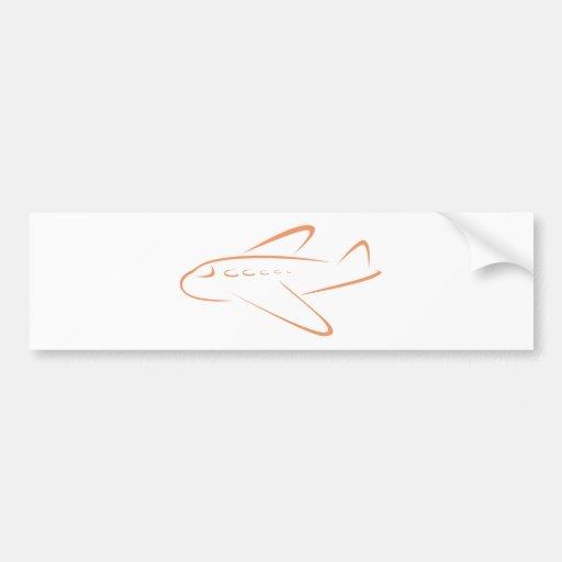 Camisetas lindo del regalo del icono del aeroplano pegatina para auto