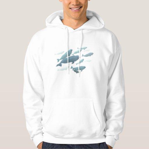 Camisetas lindo unisex del arte de la ballena de