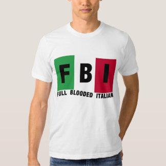 Camisetas llenas del ITALIANO del FBI Blooded Playera