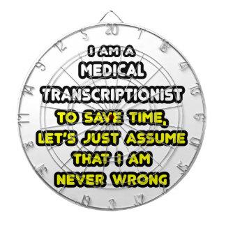 Camisetas médicas divertidas del Transcriptionist Tablero De Dardos