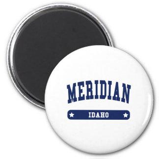 Camisetas meridianas del estilo de la universidad imanes para frigoríficos