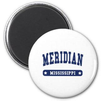 Camisetas meridianas del estilo de la universidad imán de nevera
