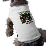 Camisetas mexicano del perro del futbol de los due camiseta de mascota
