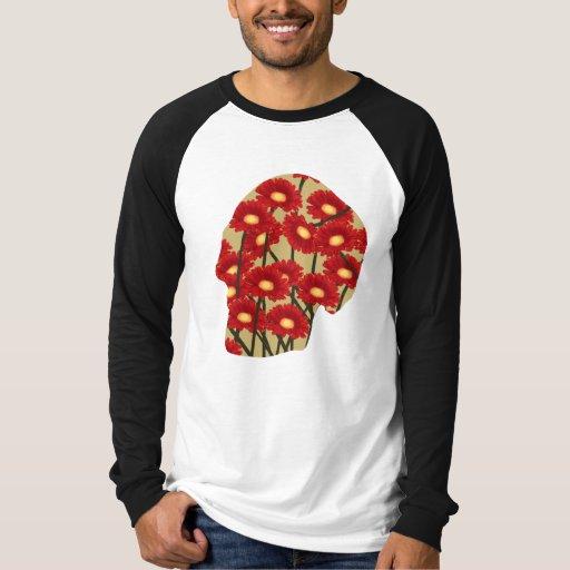 Camisetas modeladas de la cabeza humana
