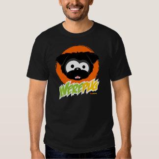 Camisetas negras de la oscuridad de WerePug Poleras