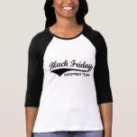 Camisetas negras de viernes, equipo negro de las c