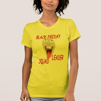 Camisetas negro del líder del pelotón de viernes playera